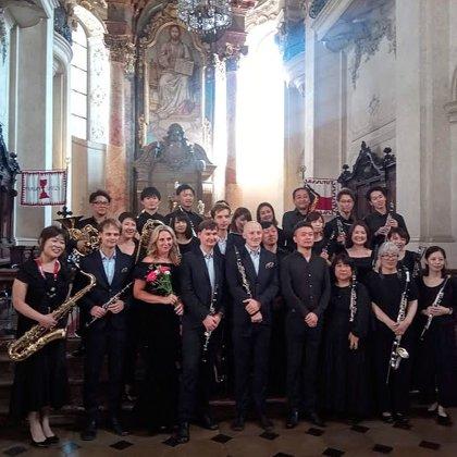 23. 8.2019 / Koncert Sappo Wood Winds Orchestra Japan, Klarinetový soubor Prachatice, Praga Sinfonietta, Kostel sv. Mikuláše, Staroměstské náměstí, Praha