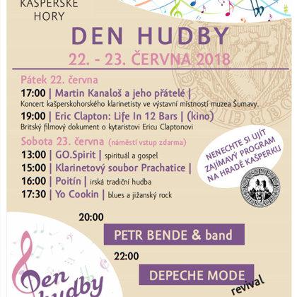 23.6.2018 / Den hudby, náměstí Kašperské Hory