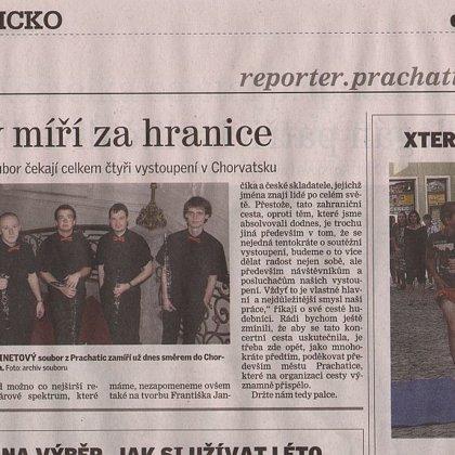 Klarinety míří za hranice / Prachatický deník 8.8.204