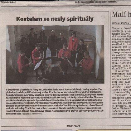 Kostelem se nesly spirituály / Prachatický deník 3.10.2014