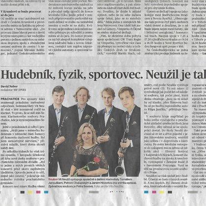 Hudebník, sportovec, fyzik. Neužil je talent. / Mladá Fronta Dnes 6.12.2018