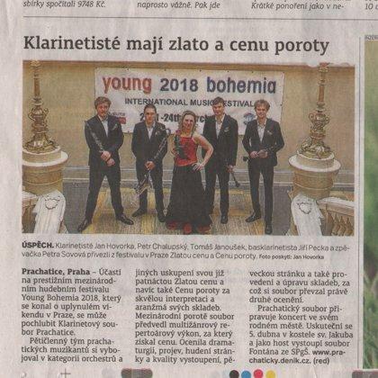 Klarinetisté mají zlato a cenu poroty / Prachatický deník 28.3.2018