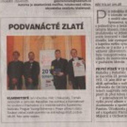 Podvanácté zlatí / Českobudějovický deník 28.3.2017