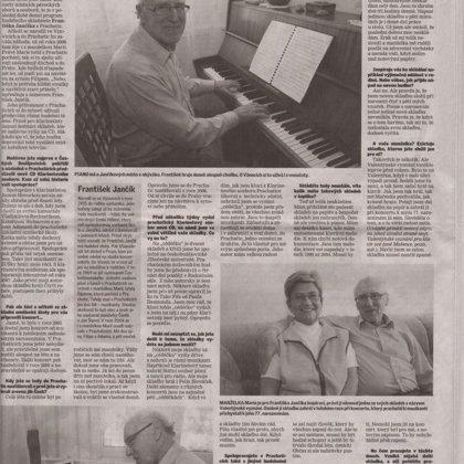 Rozhovor s Františkem Jančíkem - hudebním skladatelem / Českobudějovický deník 7.12.2013