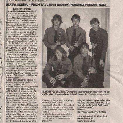 Seriál Deníku - Představujeme hudební formace Prachaticka / Prachatický deník 18.6.2008