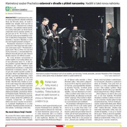 Klarinetisté bilancovali dekádu / 5+2 Šumava 27.10.2016