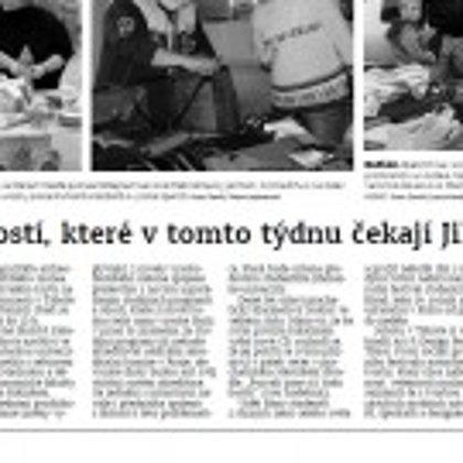 Výběr z událostí, které v tomto týdnu čekají Jihočechy / Českobudějovický deník 17.10.2016