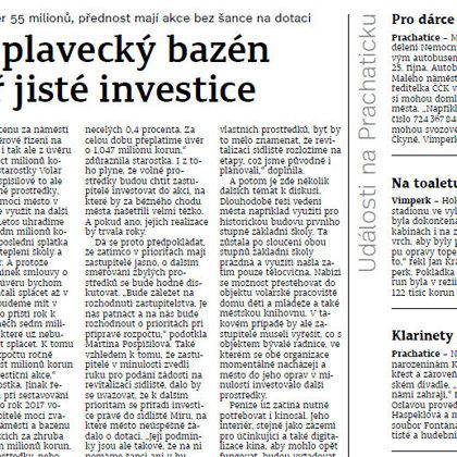 Klarinety pokřtí CD, slaví desítku / Prachatický deník 19.10.2016