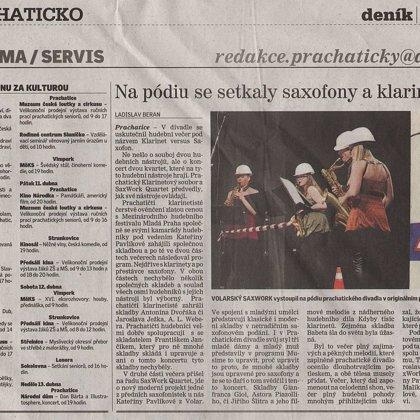 Na pódiu se setkaly saxofony a klarinety / Prachatický deník 8.4.2014