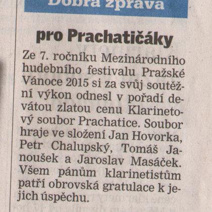 Pro Prachatičáky / Prachatický deník 18.12.2015