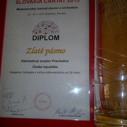 23.-26.4.2015 / Mezinárodní festival Bratislava Cantat 2015, soutěž, koncert, Bratislava (SK)